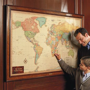 Magnetic travel maps travel maps decorating and playrooms magnetic travel maps frontgate gumiabroncs Gallery