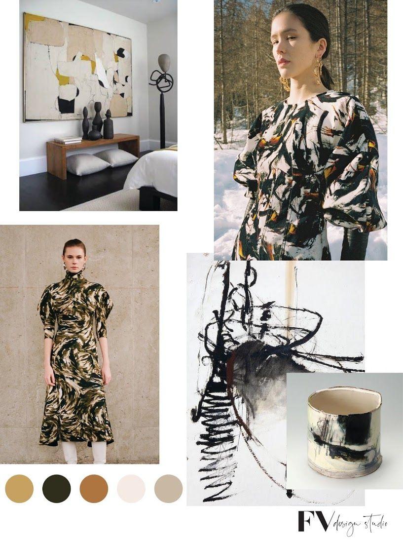Fv Trend X Color Artisan Strokes Fall 2020 Fashion Vignette In 2020 Color Trends Fashion Fashion Forecasting Pattern Fashion