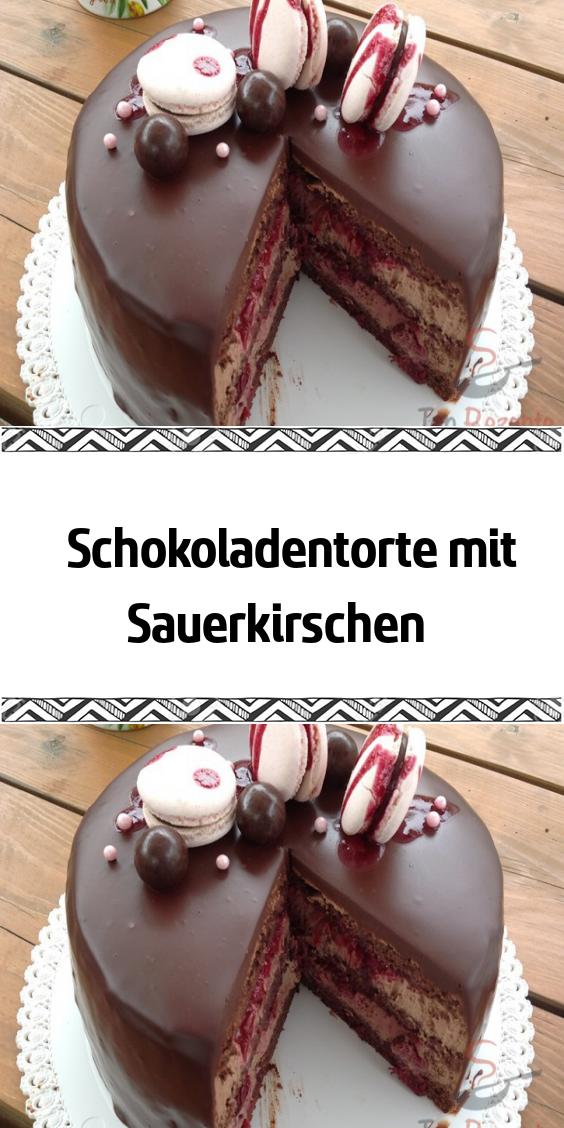 Schokoladentorte mit Sauerkirschen – Internationale Küche