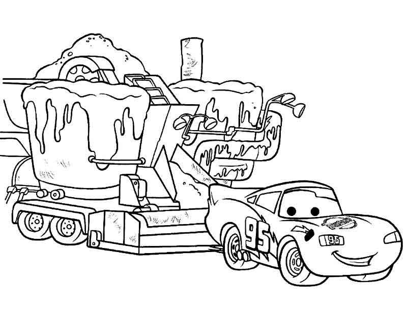 Free Printable Lightning Mcqueen Coloring Page Coloring