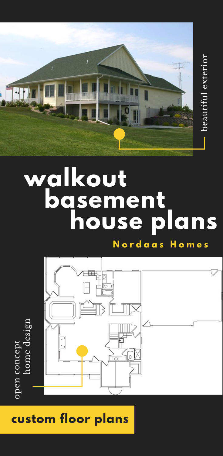 Walkout Basement House Plans With Open Concept Design Ranch House Exterior Basement House Plans Traditional Home Exteriors