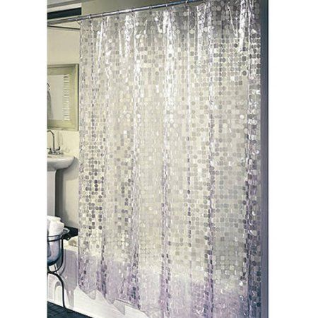 Home Vinyl Shower Curtains Silver Shower Curtain Cheap Shower