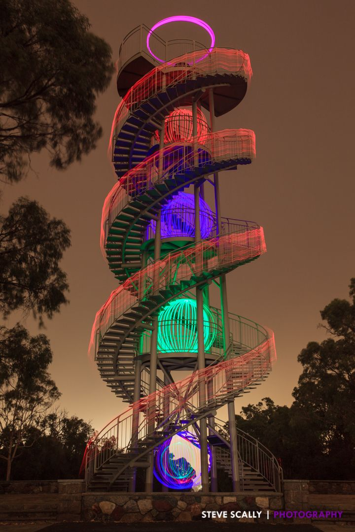 My Attempt At Light Painting The Dna Tower In Kings Park Perth