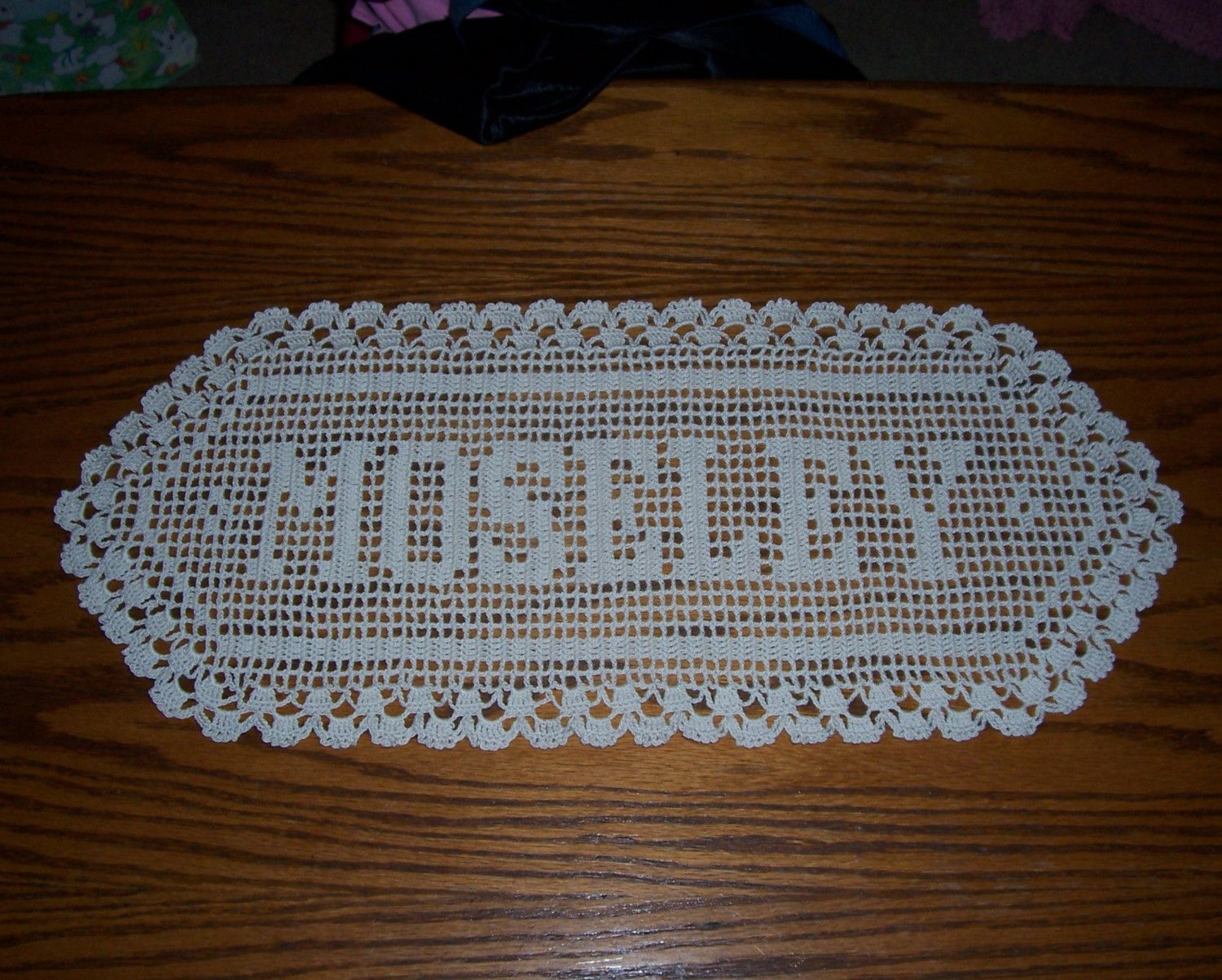 Filet Crochet  How To Graph A Pattern For A Filet Crochet Name Doily   Associated
