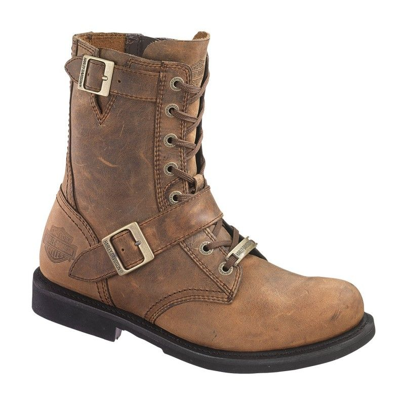 Harley davidson d95265 in brown motorcycle boots boots