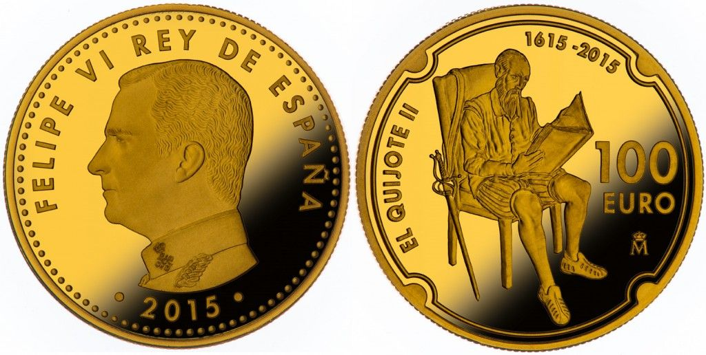 España 100 Euros en Oro El Quijote II