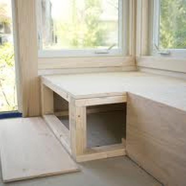 Diy Window Bench Customize For Multi Purpose With Dog Crates Perfect For The Tiny House Window Seat Kitchen Window Benches Built In Bench