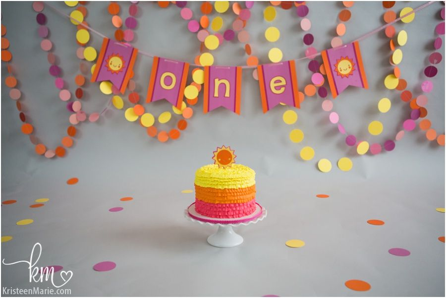 2016 03 02 0002 Jpg 900 601 1st Birthday Cake Smash Smash Cake Girl Sunshine Cake