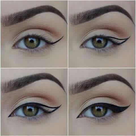 Winged liner steps: