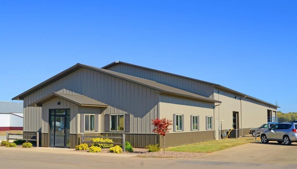 Office And Shop Pole Barn Homes Steel Buildings Metal Shop Building