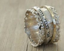 """Great Promise ring idea. Hebrew Inscribed Ring """"I AM My ..."""