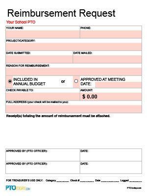 Editable reimbursement request form (Excel formula-based) PTO - check request form