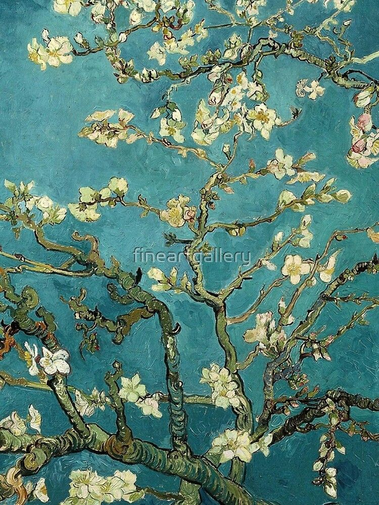 Vincent Van Gogh Blossoming Almond Tree Throw Pillow By Fineartgallery Cherry Blossom Painting Vincent Van Gogh Tree Painting