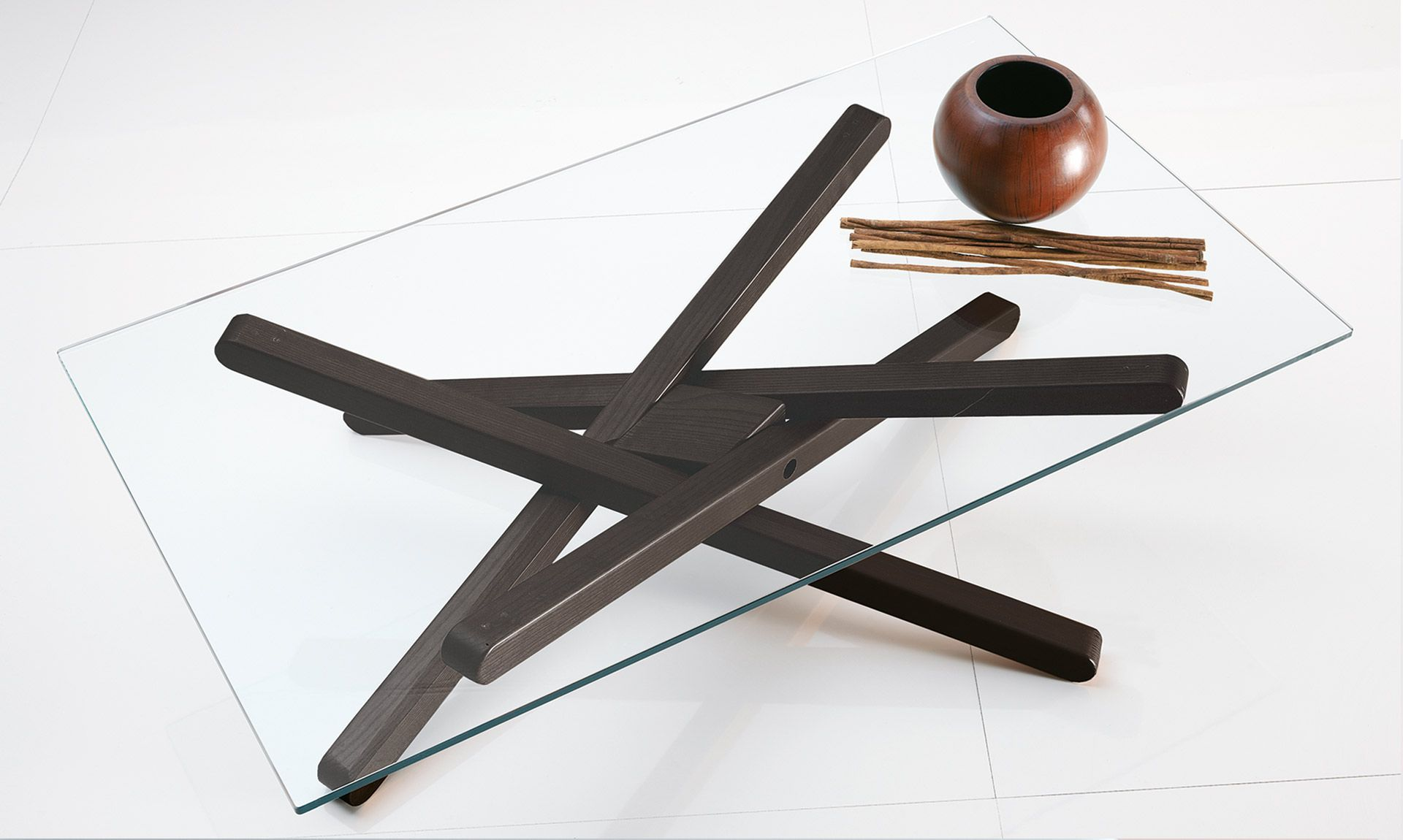 The Shanghai Contemporary Coffee Table Features A Tempered Glass