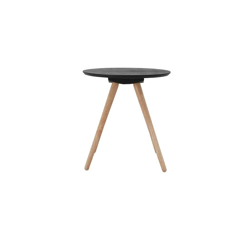 398 Mini Sienne Noir Table Basse Ronde En Bois Teinte Noir Table
