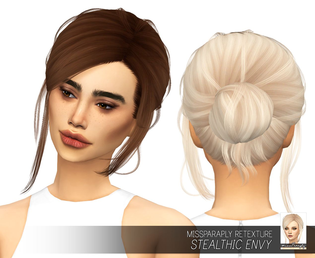 The sims 4 hairstyles cc - Lana Cc Finds Missparaply Ts4 Stealthic Envy Solids 64