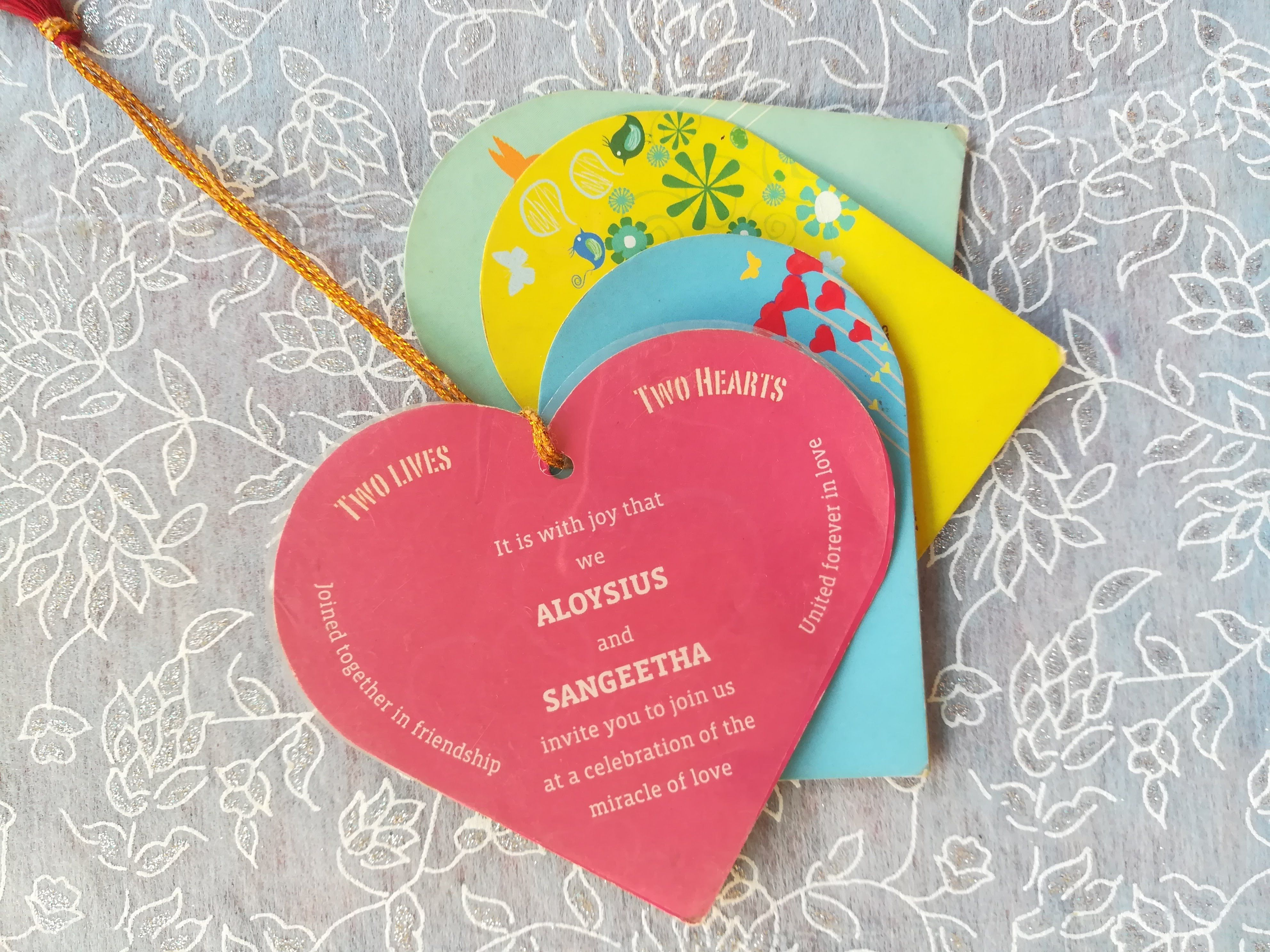 Heart Shaped Wedding Invitation For The Special Marriage That Your