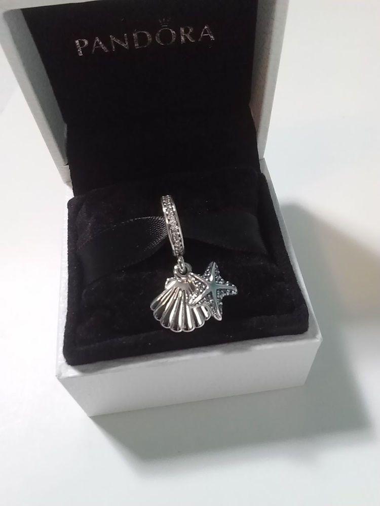 1117dcdfb Pandora Tropical Starfish & Sea Shell Charm #792076CZF Frosty Mint & Clear  CZ #Pandora #European