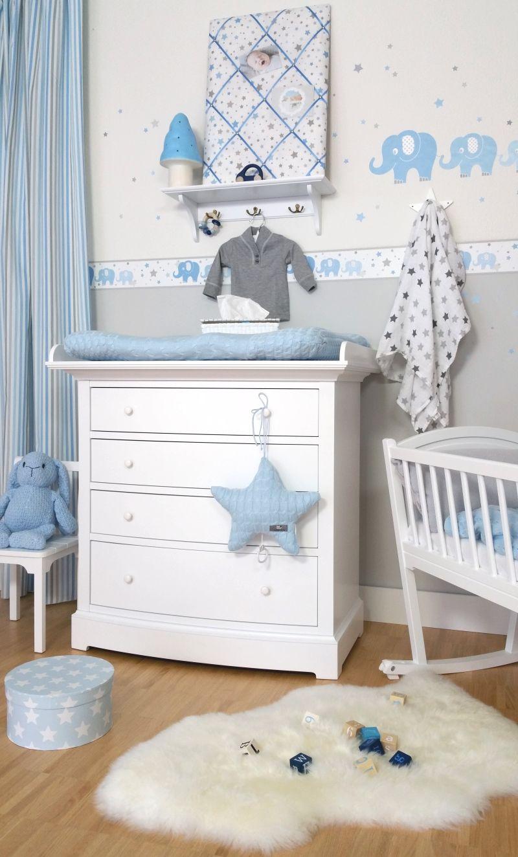 Kinderzimmer wandsticker elefanten blau grau 48 teilig babyzimmer pinterest chambre de - Kinderzimmer blau grau ...