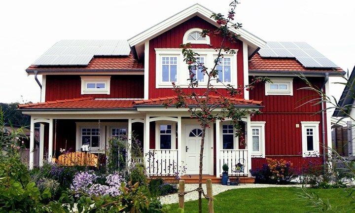 R rvikshus mit veranda h user pinterest au enbereich for Skandinavien haus bauen