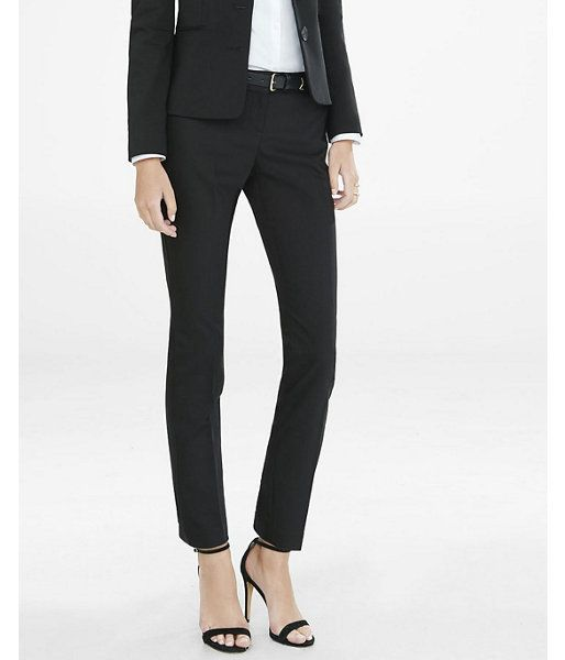 Mid Rise New Waistband Double Weave Columnist Ankle Pant  Women's