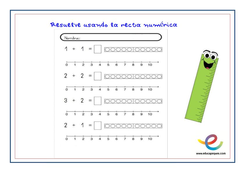 Metodo De La Recta Numerica Para Ensenar Matematicas Recta Numerica Ensenar Matematicas Hojas De Trabajo Para Primer Grado