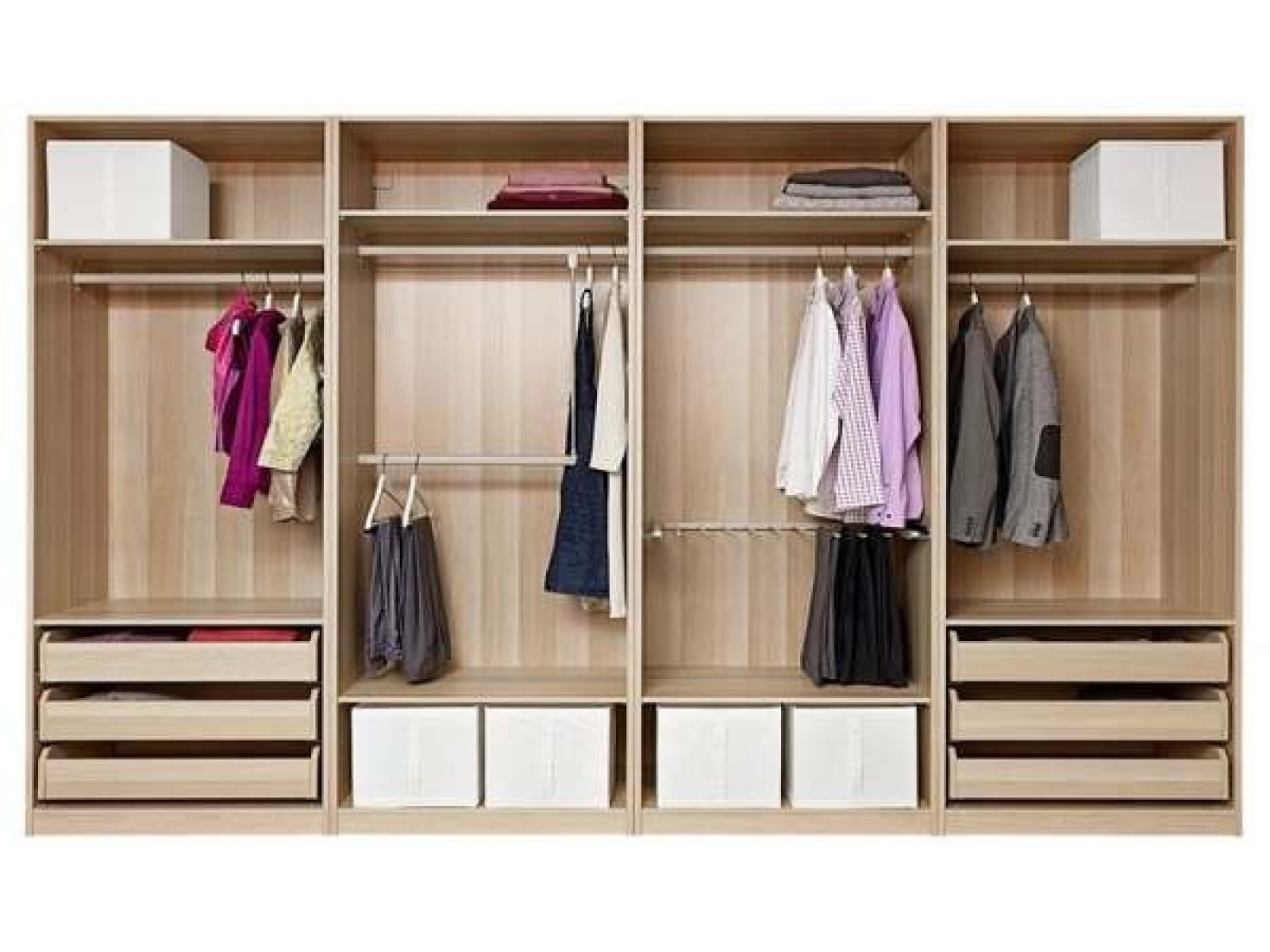 Keep your bedroom closet neat using ikea closet organizer pax wardrobe with shelving and for Bedroom closet organizers ikea