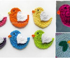 Crochet Lovely Bird Applique