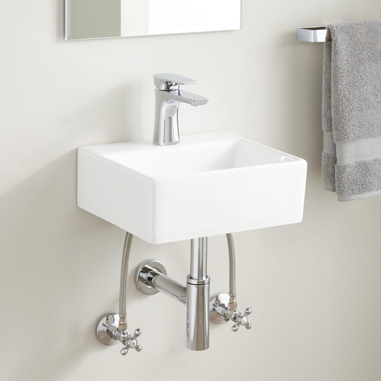 Corrie Mini Porcelain Wall Mount Bathroom Sink Wall Mount Sinks Bathroom Sinks Bathroo Wall Mounted Sink Wall Mounted Bathroom Sinks Bathroom Sink Design