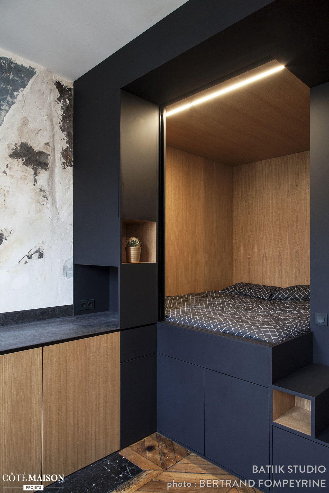 Le cube noir multifonctionnel batiik studio côté maison