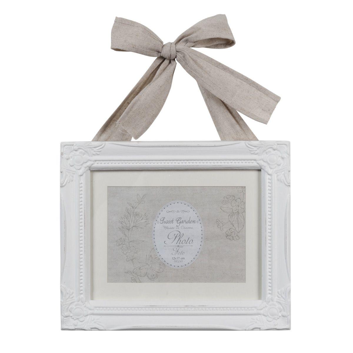 Cadre photo en bois blanc 23 x 28 cm CÉCILE de maison du monde ...