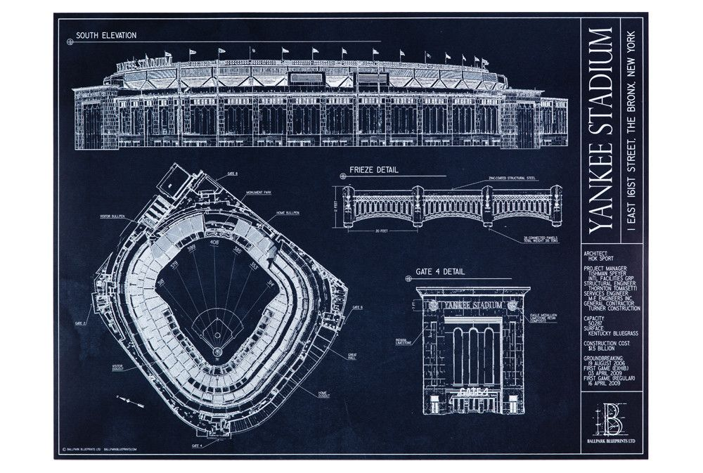 Yankee stadium new york yankees yankee stadium yankee stadium yankee stadium blueprint style malvernweather Gallery