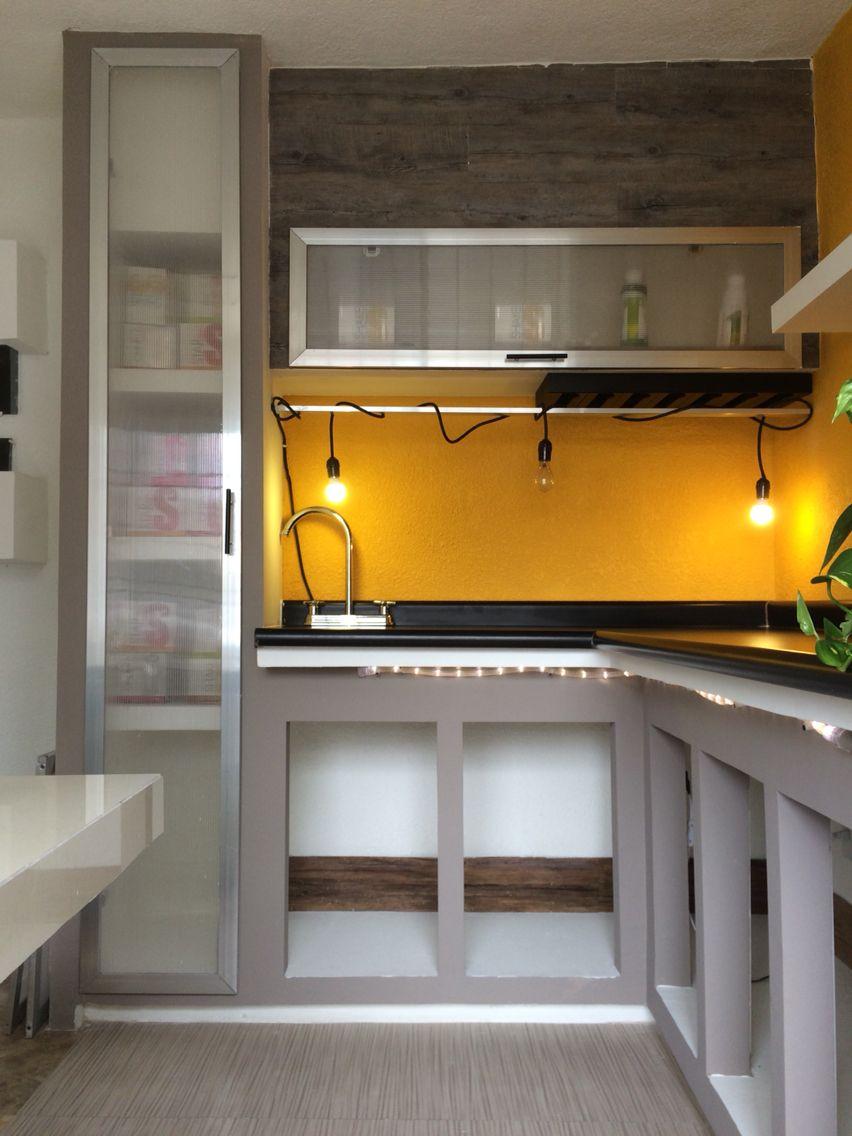 Cocina de muroblock cocinas pinterest cocinas for Comedores de cocina