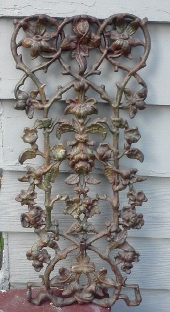 Ornate Cast Iron Yard Art Vintage Mid Century by FingerLakesFinds, $99.00