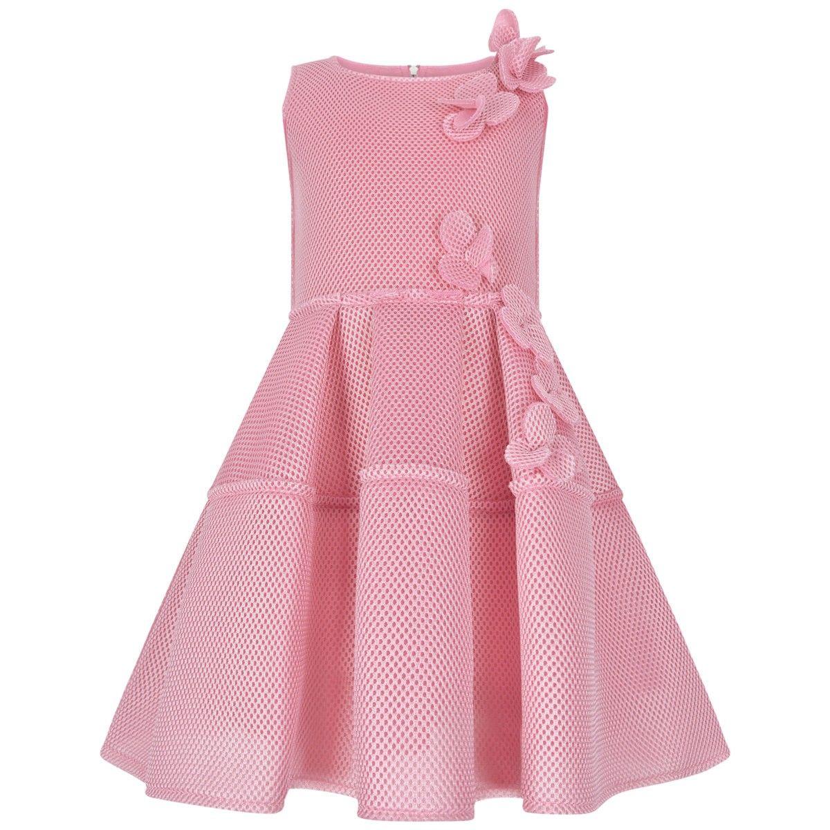 Mi Mi Sol Pink Neoprene Mesh Flower Dress | Bridesmaids | Pinterest ...