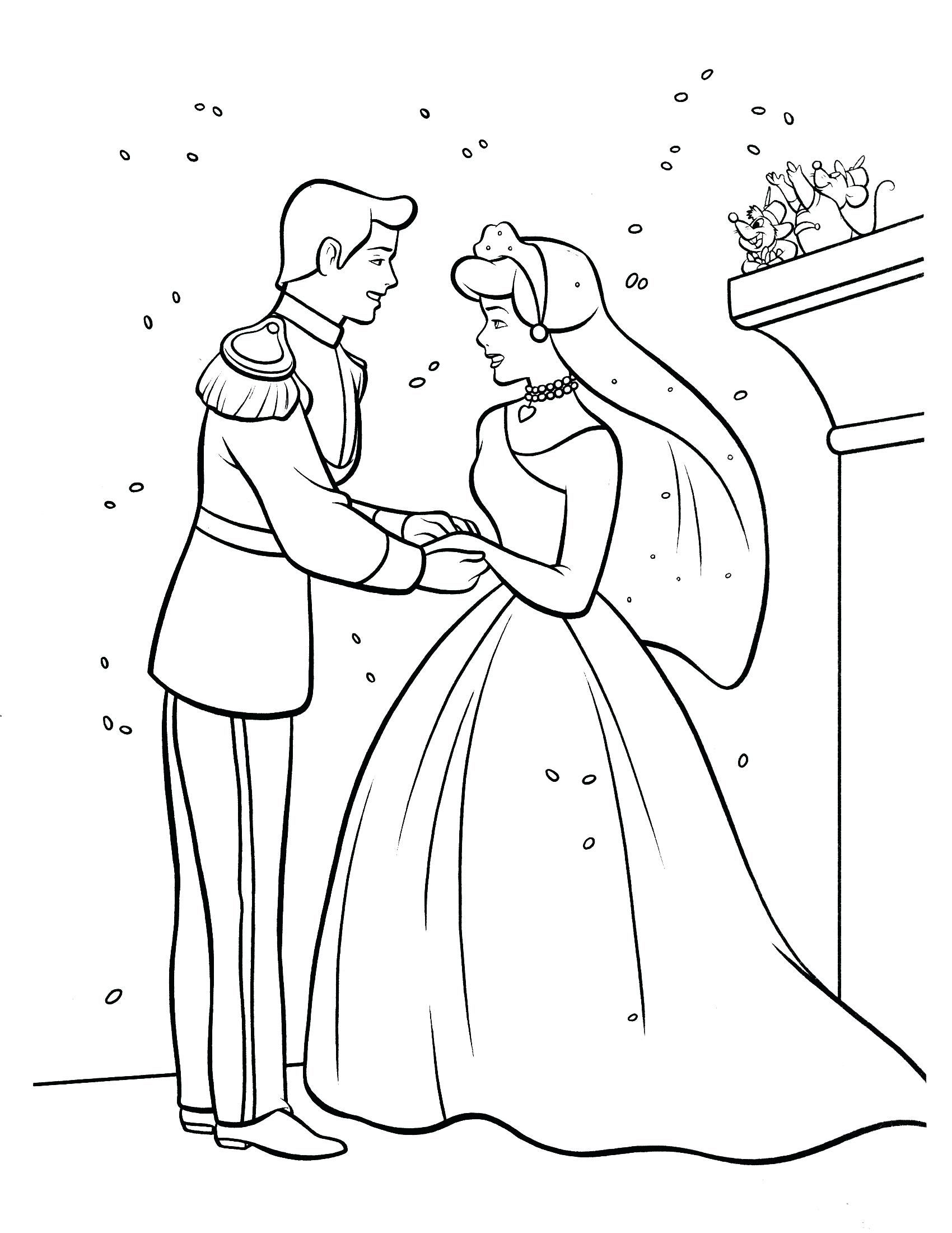 Coloring Pages Cinderella Coloring Page Cinderella Coloring Pages Wedding Coloring Pages Descendants Coloring Pages