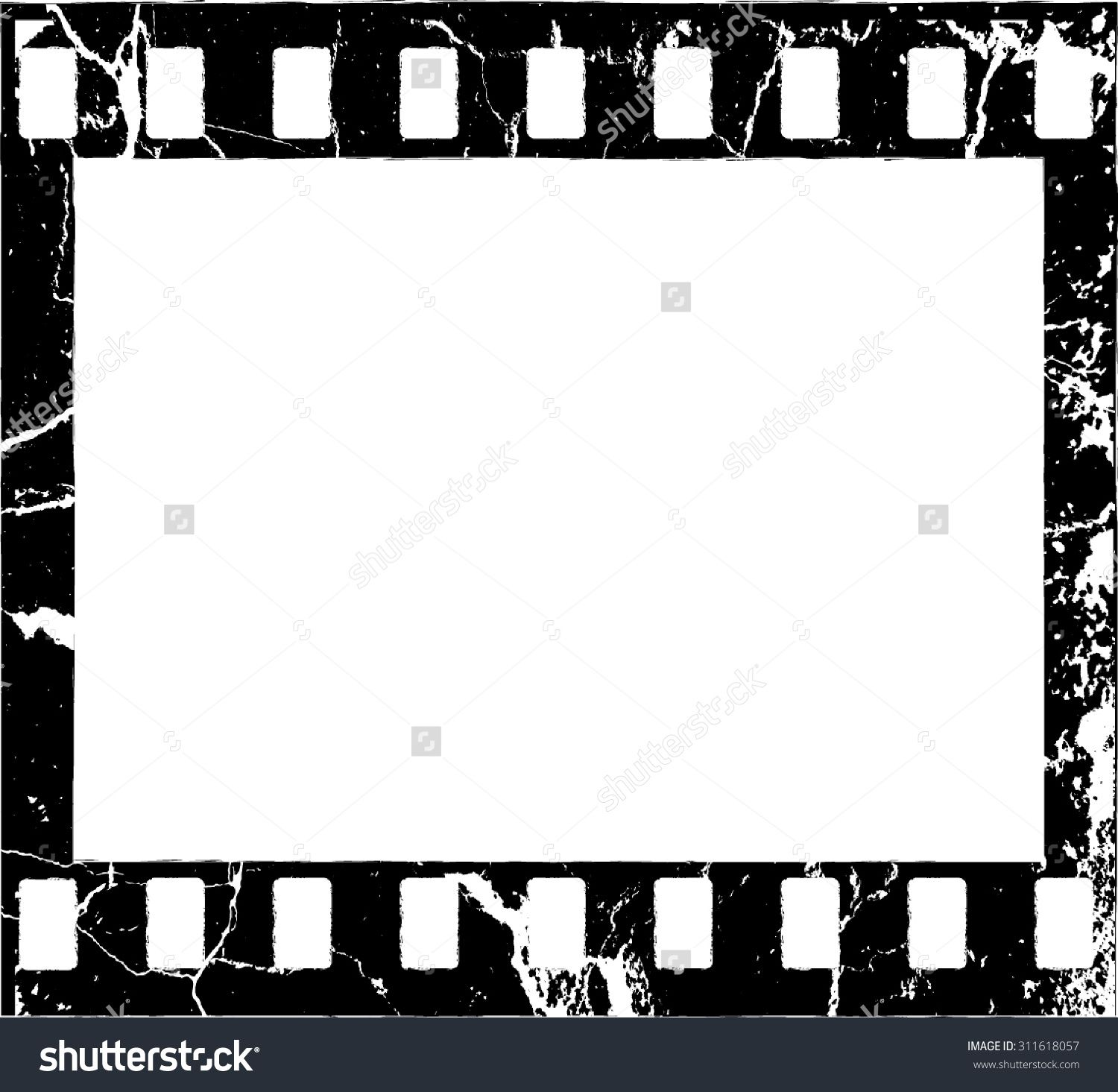 Grunge Filmstrip Border Frame . Photo Frame With Overlay Film ...