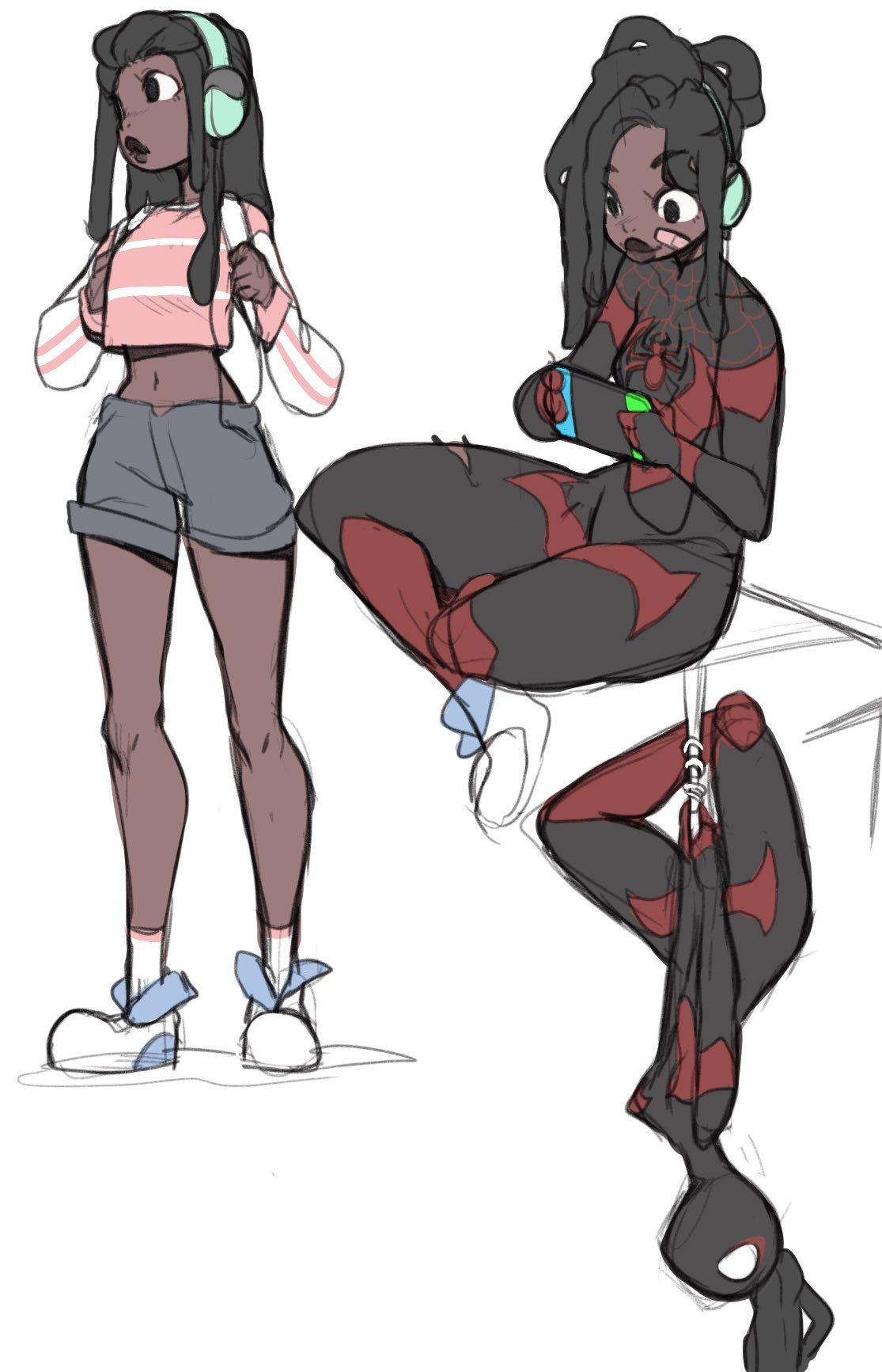 Puni🐾 on Spiderman art, Character art, Character design