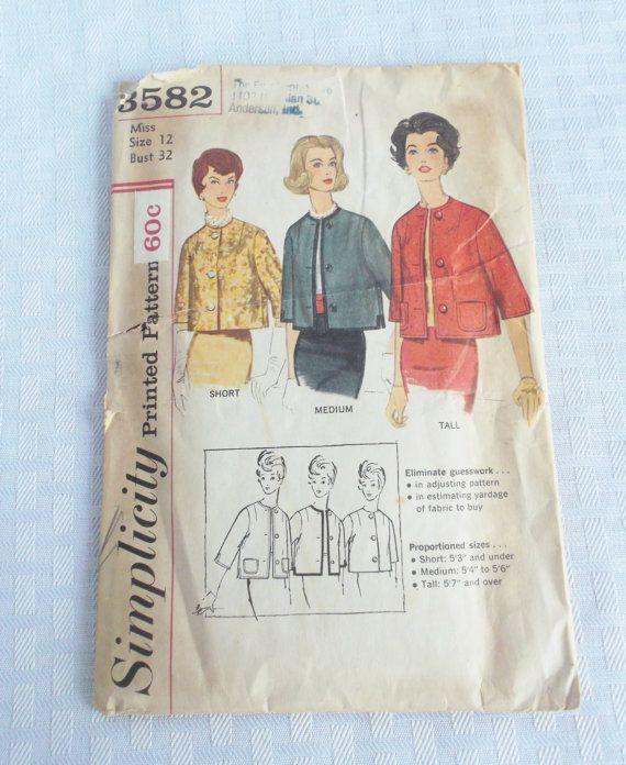 Early 60's Vintage Cropped Dress Jacket by MyVintageHatShop, $10.00