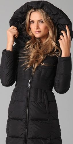 7ac069efa55 Nylon Gloss Icon Puffer Coat | Winter coat | Coat, Winter jackets ...