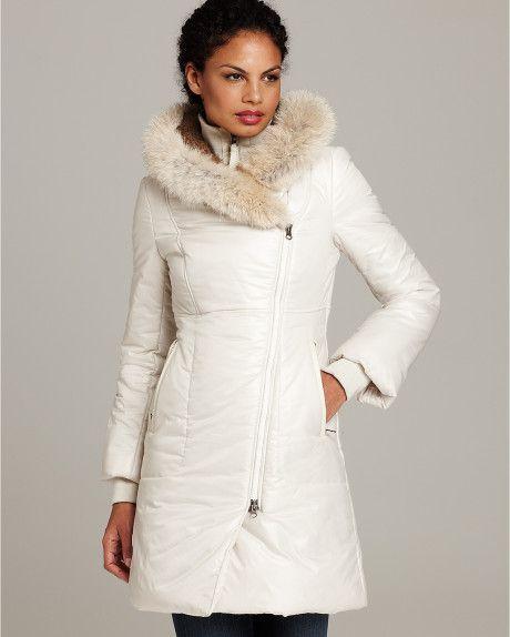 White Down Slim Puffer Coat Women Puffer Jacket With