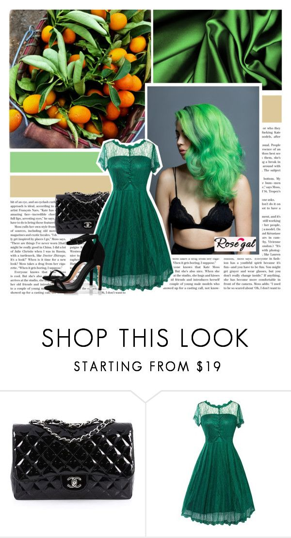 """""""Rosegal #61"""" by pinki1994 ❤ liked on Polyvore featuring Chanel, Boohoo and rosegal"""