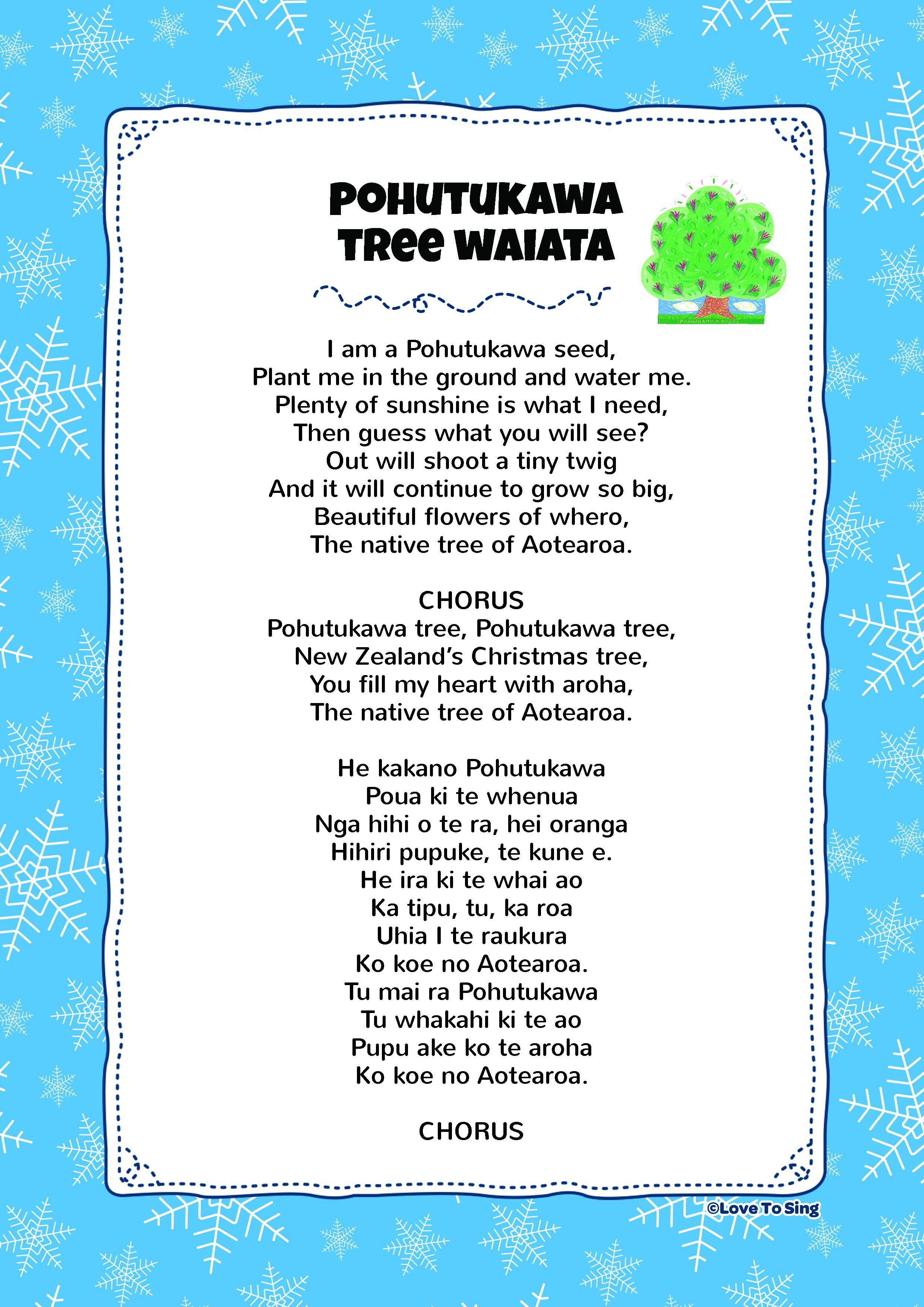 Waiata Pohutukawa Tree Kids video songs, Free lyrics