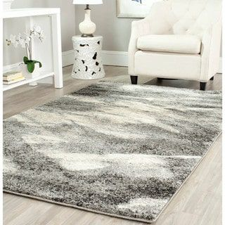 gray and white rug. Safavieh Retro Mid-Century Modern Abstract Grey/ Ivory Rug (8\u0027 X 10\u0027) | Overstock.com Shopping - The Best Deals On 7x9 10x14 Rugs Gray And White O
