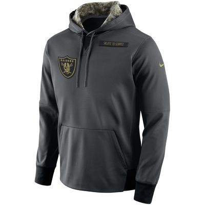 ... wholesale mens oakland raiders nike anthracite salute to service player  performance hoodie ec0fa 69fd8 ... c1b7bfb4d