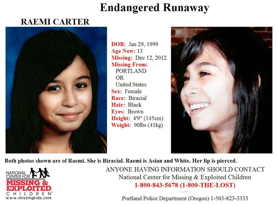 1 14 2013 Please share to locate Raemi Carter (13) missing from - missing person picture