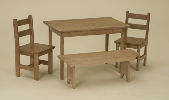 wooden table chair bench set preschool by alaratessalexbres rh pinterest com