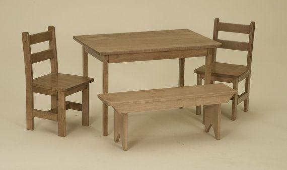 Bench · Preschool Table Chair Bench Set Toddler Furniture Children ...