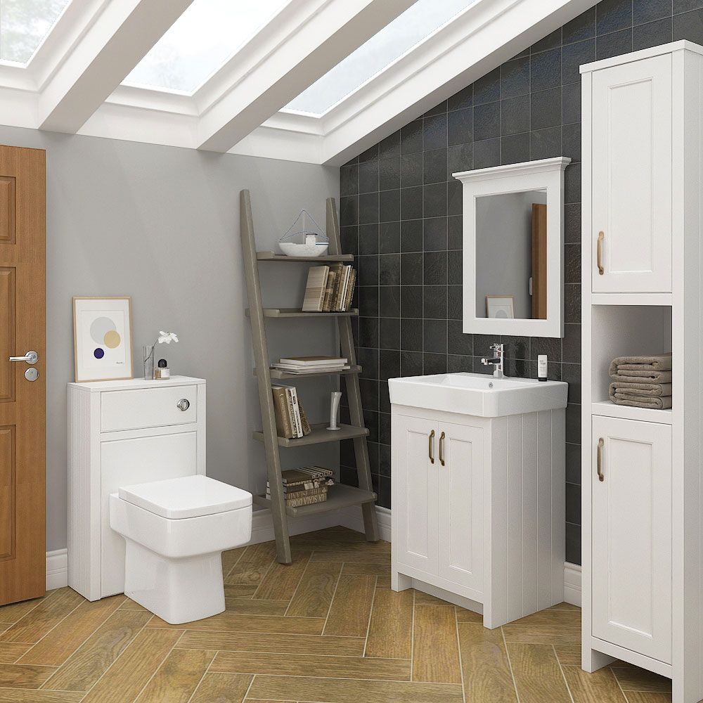 Chatsworth 3 Piece Traditional White Bathroom Suite