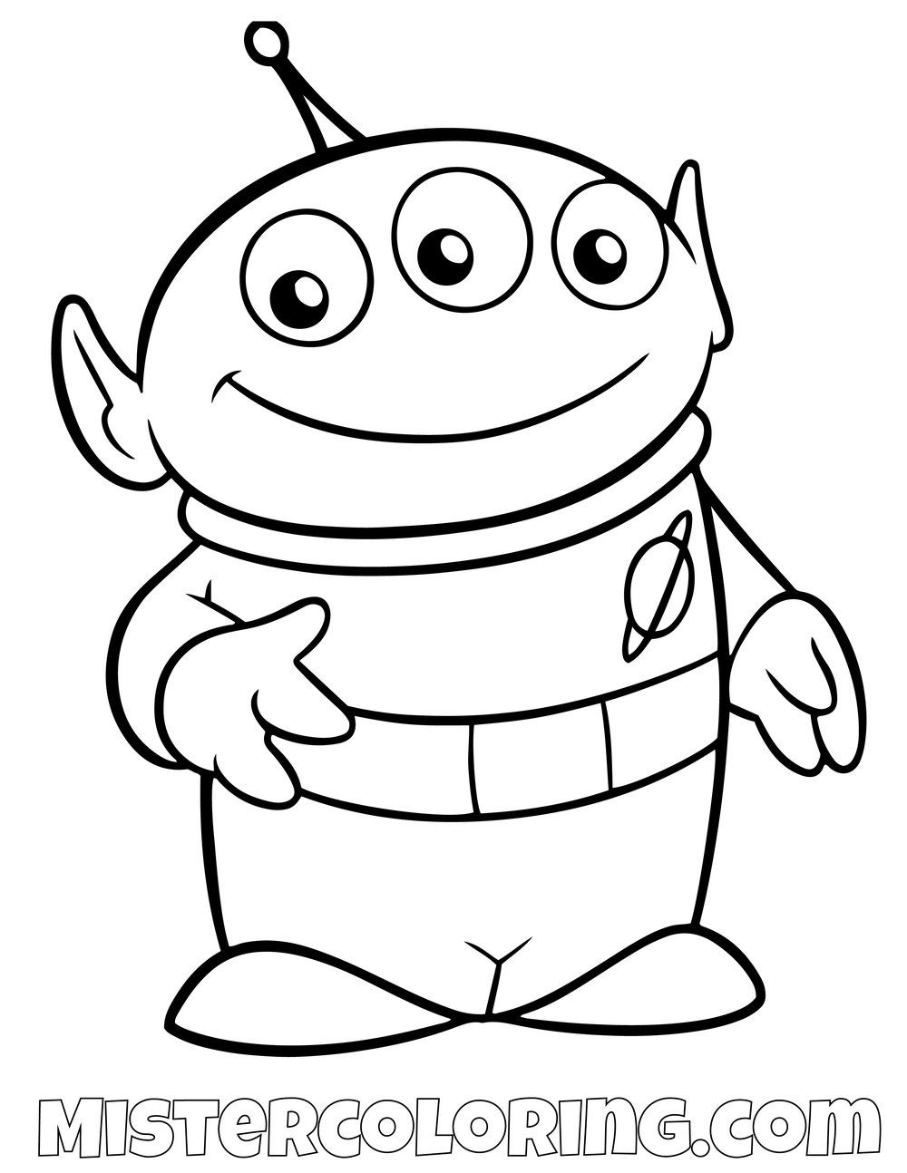 Alien Toy Story Coloring Page Toy Story Coloring Pages Disney Coloring Pages Toy Story Crafts